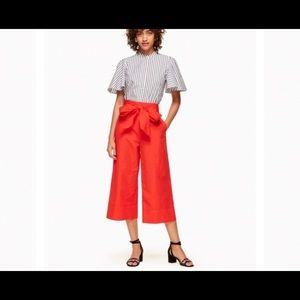 Kate Spade Culotte Red Bow Size 4 NEW